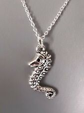 Cute Seahorse pendant 925 silver link chain jewellery fashion necklace gift