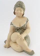Muñeca de baño Mujer Sentado gris Retro Figura Deco Baño