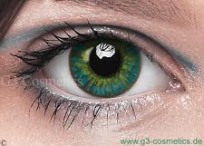 Farbige Grün Kontaktlinsen FreshTone Motiv Karneval Linsen Motto Crazy Linsen
