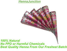 6 Natural Henna Cones Temporary Tattoo Kit Body Art Ink Instant Herbal Hina DIY