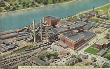 OLD VINTAGE THE RATH PACKING COMPANY IN WATERLOO IOWA LINEN POSTCARD
