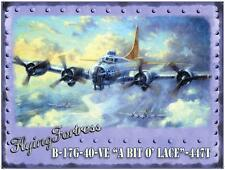 FLYING FORTRESS  PLANE  AIRFORCE  VINTAGE RETRO LARGE STEEL WALL PLAQUE TIN SIGN