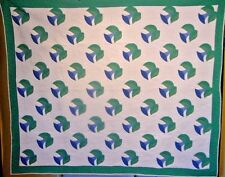 Antique Morning Glory Quilt 1940S Huge Size Spring Decorating Clean And Ready