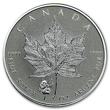 2016 Canada 1 oz Silver Maple Leaf Panda Privy BU - SKU #95029