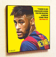 Neymar Barcelona Football Art Painting Decor Print Wall Poster Canvas Decals