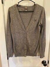 District Made Womens Small Long Sleeve Button Up Sweater Cardigan Gray S