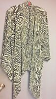 3x  Cardigan Kimono Poncho Top plus size Women's Zebra Animal Print Sale