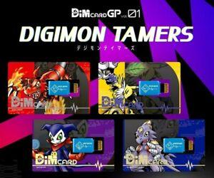 Bandai Digimon Vitalbracelet DIMCard GP Vol 1 Tamers Set of 4 DIM Card PRESALE