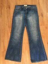 Ladies JAG Flared Jeans Size 10 Blue Denim Nolita Faded Flares Wide