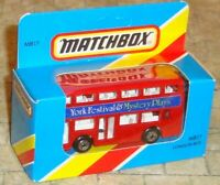 MATCHBOX - RED LONDON BUS - YORK FESTIVAL - MB17 -MINT/UNOPENED- c1983 - BARGAIN