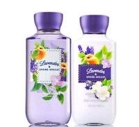 Bath & Body Works Lavender & Spring Apricot Body Lotion + Shower Gel Duo Set