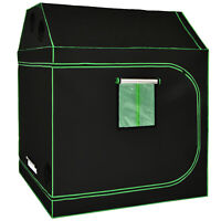 """Costway 60""""x60""""x72"""" Mylar Hydroponic Grow Tent Roof Cube w/Window Floor Tray"""