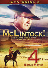 Mclintock DVD - John Wayne, Maureen O'Hara Plus 4 Bonus Movies - NEW, FREE SHIP