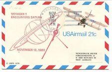 1980 Voyager 1 Encounter Saturn Pasadena USAirmail Munchen Germany SPACE NASA