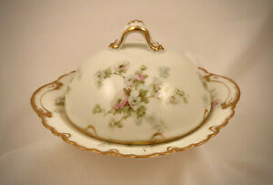 Antique Theodore Haviland Limoges Butter Dish