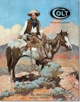 Colt Tex and Patches Cowboy Vintage Retro Gun Ammo Hunt Cabin Metal Tin Sign New