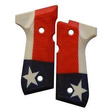 Custom Beretta 92 96 M9 Grips Ambidextrous Texas Flag
