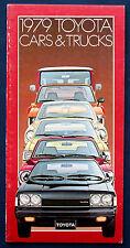 Prospekt brochure 1979 toyota celica corona * * sr-5 pickup trucks (Estados Unidos)