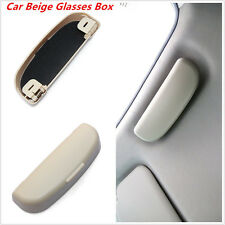 Beige Car Interior Sunglasses Storage Box Sun Glasses Eyeglass Cases Universal
