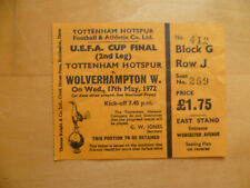 1972 UEFA Cup Final Tottenham Hotspur v Wolverhampton Wanderers