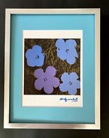 ANDY WARHOL + 1984 SIGNED FLOWERS POP ART MATTED TO BE FRAMED AT 11X14
