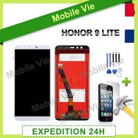 VITRE TACTILE + ECRAN LCD PRET-A-MONTER POUR HUAWEI HONOR 9 LITE BLANC + OUTILS