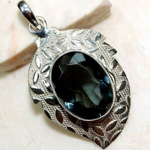 6CT Iolite 925 Solid Genuine Sterling Silver Pendant Jewelry NW3-3
