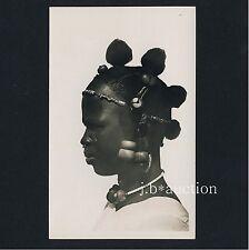 Africa sonraye woman Artful headdress rich Jewelry * vintage 30s Lerat photo pc