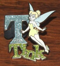 "Walt Disney Tinkerbell Glittered ""T"" Initial Tink 2008 Official Trading Pin!"