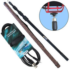 Tamburi mpb03 Boom Pole canna 3m + mc-008xj 3m Cavo Microfono XLR - 3,5mm