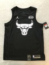 New Nike Michael Jordan Large L Kia All Star Black Jersey Chicago Bulls 48 NWT