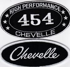 CHEVY 454 CHEVELLE SEW/IRON ON PATCH EMBLEM BADGE EMBROIDERED MALIBU