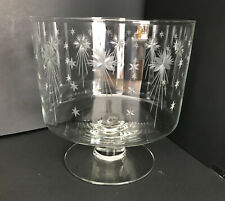 Vintage Hawkes Aquila Starburst Footed Trifle Bowl HAND SIGNED RARE