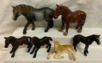 Schleich Horses Lot Black Foals Tanned, Brown, Grey Horses Lot