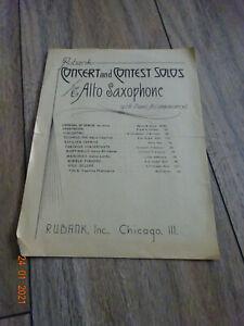 """Notenblatt """"Concertino"""" für Alt Saxophon,1936"""
