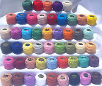 50 ANCHOR Pearl Cotton Balls. Size 8  (85 Meters each) , Wholesale Price