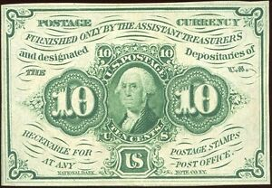 FR1243 10c FRACTIONAL CURRENCY CHOICE CU+ NO MONOGRAM BN4661