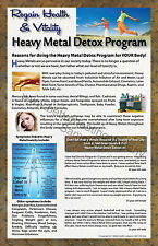 2 HEAVY METAL DETOX  PROGRAM 11 X 17 FULL COLOR LAMINATED PROMOTIONAL POSTERS