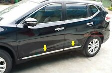 Stainless Steel Side Door Molding Trim Chrome For Nissan Rogue X trail 2014+