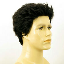 Perruque homme 100% cheveux naturel noir ref XAVIER 1b
