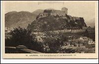 Lourdes France Frankreich CPA AK ~1920/30 vue sur la chateau et les montagnes