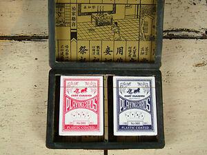 Romme Kartenspiel 2 x 55 - Schriftzeichen China Asiatika - hh05m65