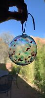 """3"""" Clear Glass Hand Blown Round Christmas Xmas Tree 🎄 Ornament Gorgeous Decor"""