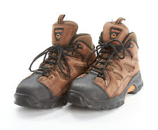 WOLVERINE Work Boots 7.5 M in Brown Suede Steel Toe W02194 HUDSON