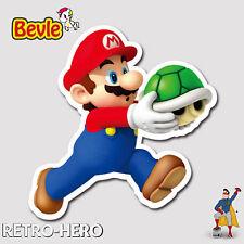 Nintendo Aufkleber Mario Sticker Wasserfest für Auto Laptop Pc Handy 3D Bevle