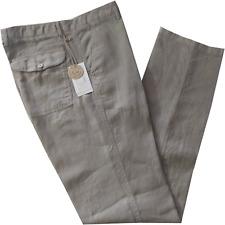 Pantalone moda uomo HOLIDAY  46 48 50 52 54 56 58 60 lino 100% beige estate
