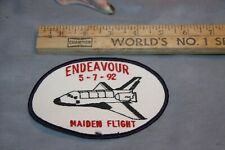 NASA Space Shuttle Mission Cloth Patch Endeavour Maiden Flight NOS