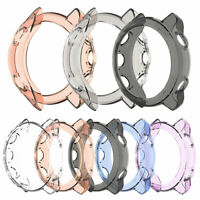 EE_ Clear TPU Frame Protector Watch Case Cover Shell for Garmin Forerunner 245M/