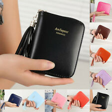 Stylish Women Leather Small Wallet Card Holder Zip Coin Purse Clutch Handbag