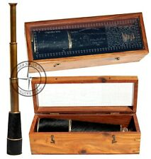 "32"" Antique Brass Telescope Goat Pure Skin Victorian Handheld Spyglass Scope"